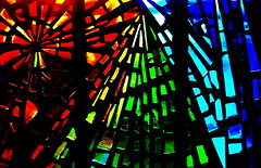symmetry, light, glass, design, stained glass,