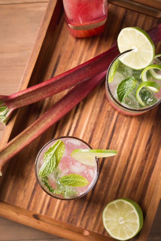 Rhubarb Basil and Mint Mojitos   Will Cook For Friends