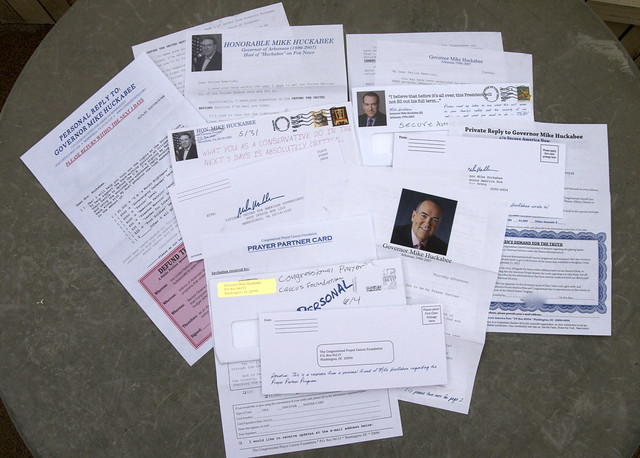 Mike Huckabee Junk Mail