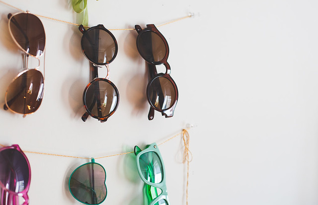Sunglasses storage DIY
