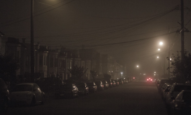 Foggy Night in The Sunset, San Francisco (@014)