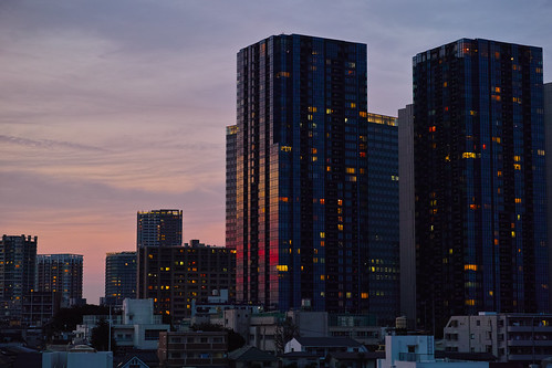 Sunset in Osaki