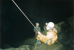 Bea holding the rope at the bottom of Sima Tonio Image