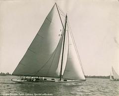"""A smart yacht in Saturday's R.C.Y.C race."""