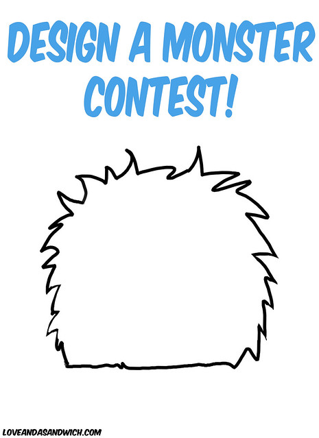 template montser - design a monster contest get your own personalized love