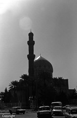 Iraq Baghdad mosque taxis 1970's