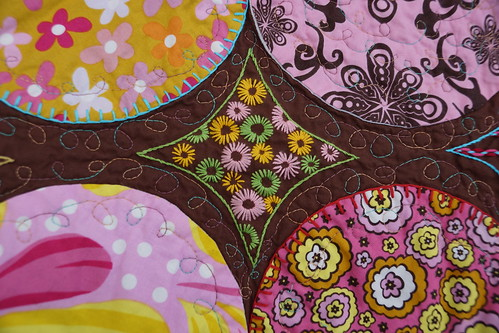 Chocolate Lollipop Quilt Embroidery