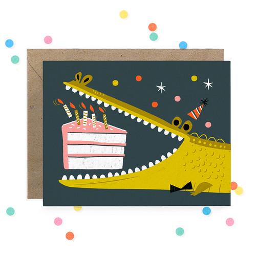 Hooray Today_ Alligator Birthday Greeting Card 1