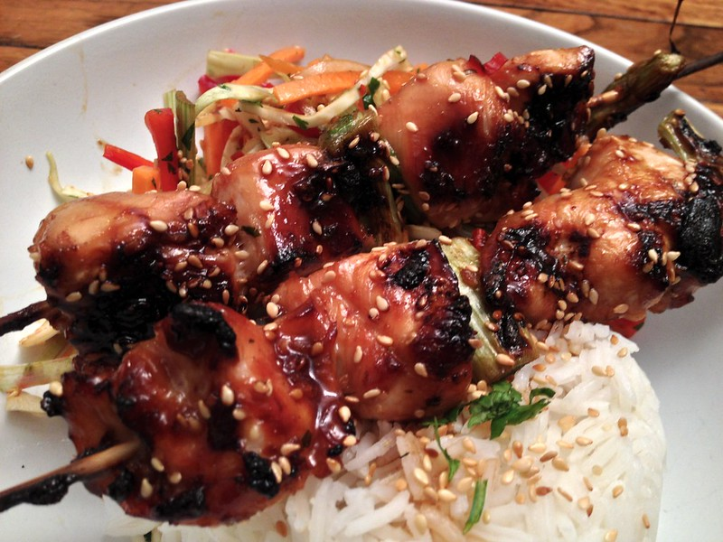 Chicken Yakitori : Close Up
