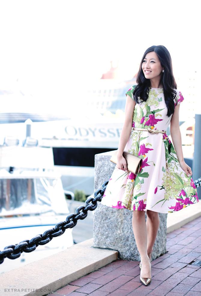 ted baker floral dress4