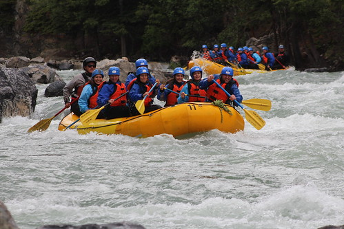 Inside out Experience white water rafting Kananaskis Alberta Canada