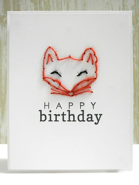 Stitched Fox Birthday