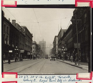 King Street West, Toronto, looking east from west of York Street