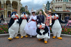 Meeting Mary Poppins, Bert and the Penguins in Town Square