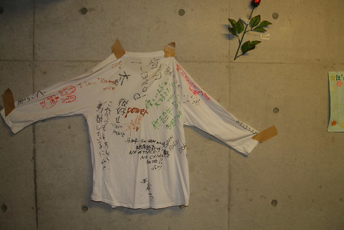 2010 graduate gift, T-shirt filled with lab-mate's messages