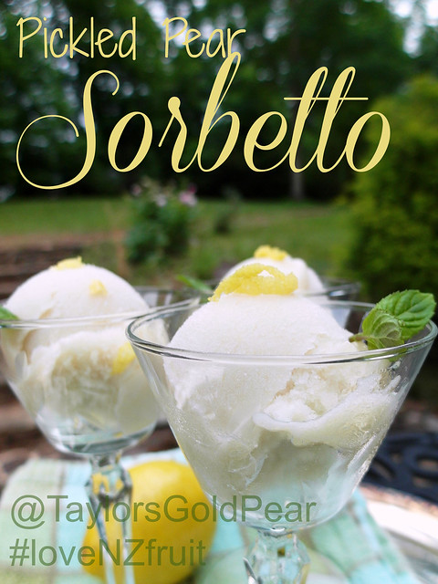 Pickled Pear Sorbetto (with Taylor's Gold Pears)