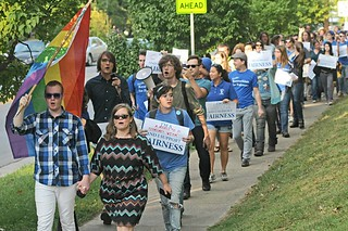 Bereans for Fairness march to City Council meeting in September 2013