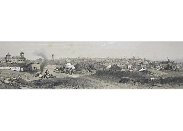 Vedere de la Curtea Arsă, 1840