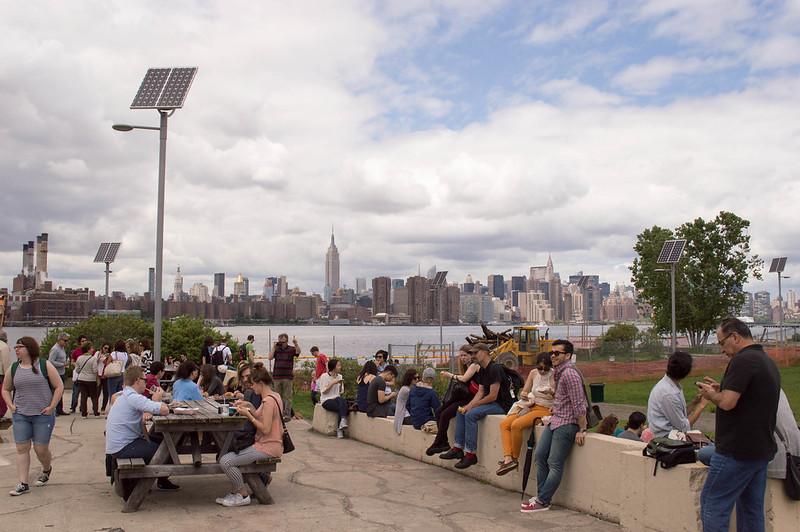 People at Brooklyn Smorgasburg