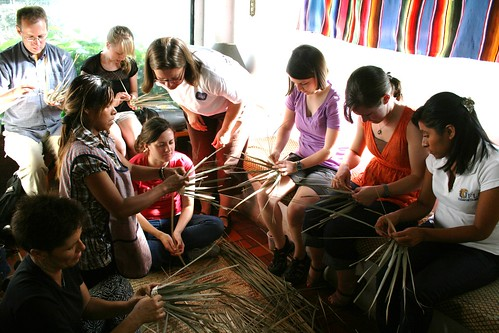 Weaving Palm Baskets