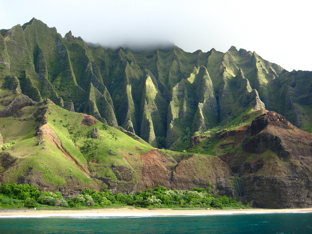 Cruising along the Nā Pali coast.