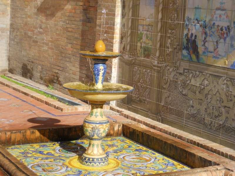 Fuente decorativa Pza. España Sevilla 2