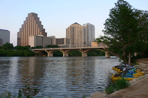 Austin downtown from the river