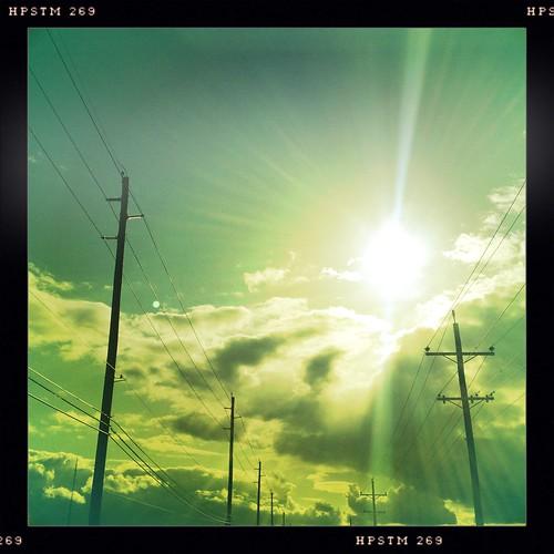 sky clouds driving noflash powerlines beleive theridehome hipstamatic jimmylens pistilfilm beforestopinginjusticeformyneicesbirthday notaneasyplacetobeafteradayswork