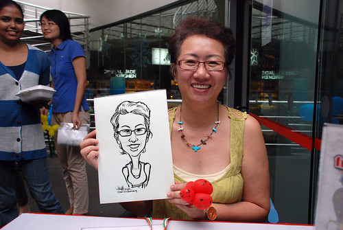 Caricature live sketching for Singapore Suntec City Annual Party - 21