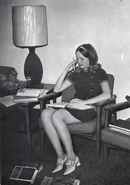 Retrospace: Mini Skirt Monday #123: Reading