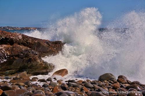 Bass Rocks Post Storm Surge Wave 4/24/12 Gloucester MA by captjoe06