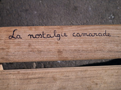 Message on a bench