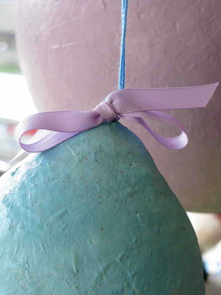 paper mache easter egg window 003