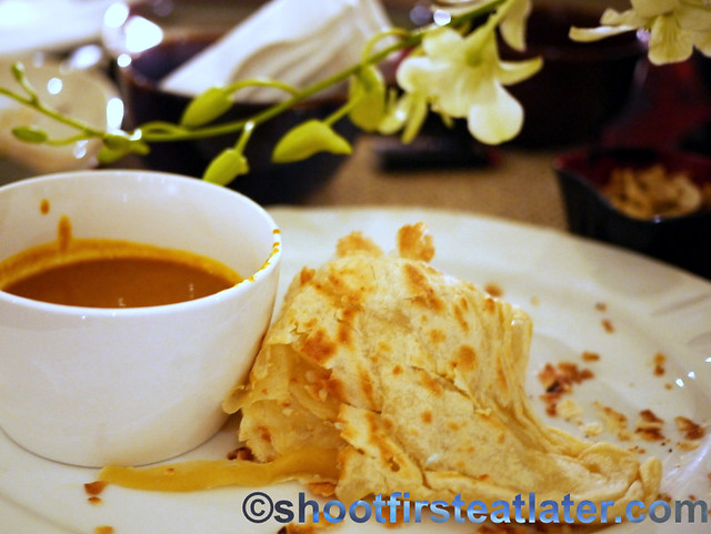roti with curry sauce made with Herb's Best Sinigang Mix