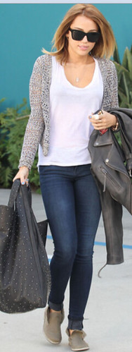 Miley Cyrus Skinny Jeans Celebrity Style Fashion