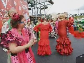 vídeo 03 Ambiente en el ferial V Feria Abril Las Palmas de Gran Canaria 2012