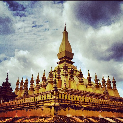 That Luang vientiane Laos by thomaswanhoff