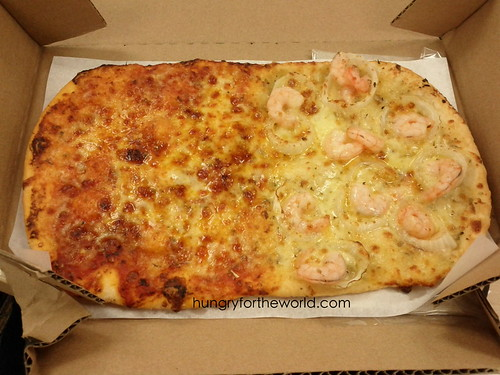 shrimp solo folded pizza