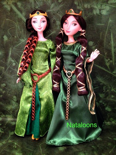Mattel and Disney Store Queen Elinor Dolls