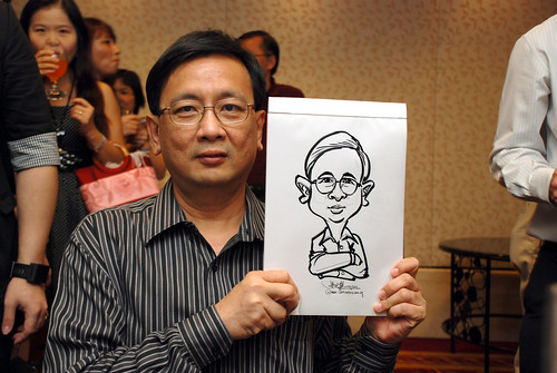 Caricature live sketching for The Bank of East Asia Staff Annual D&D - 9