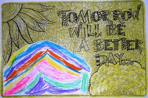 Art Journal Every Day with Angelo: Tomorrow will be a better day