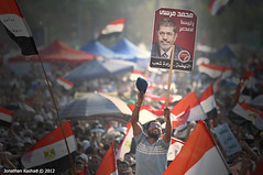 Celebrations as Muslim Brotherhood's Mohamed Morsi announced Egypt's president by Jonathan Rashad