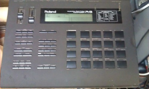 Roland R8. Music equipment of a home studio.  by Kanda Mori