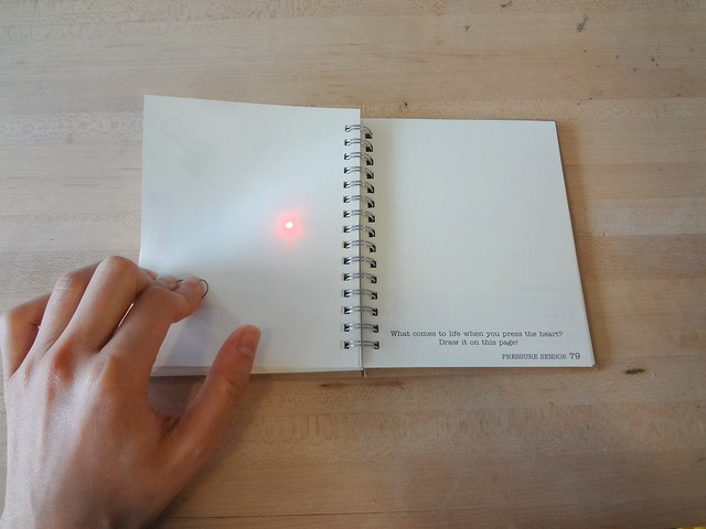Circuit Sticker Sketchbook pressure sensor
