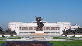 Image of  Monument to the Victorious Fatherland Liberation War  near  Pyongyang. travel monument museum asia korea northkorea koreanwar pyongyang dprk youngpioneertours victoriousfatherlandwarmuseum