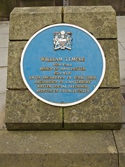 Photo of William Temple blue plaque