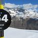 černý sjezd dolů, krásně kopíruje svah pod Matterhornem