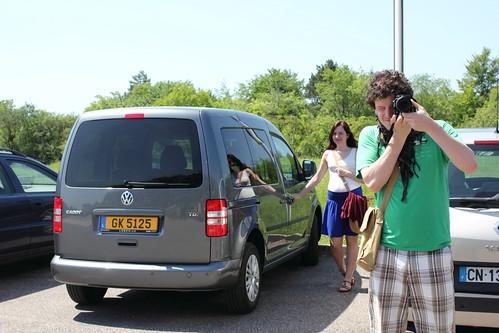Taking a photo with Volkswagen Caddy