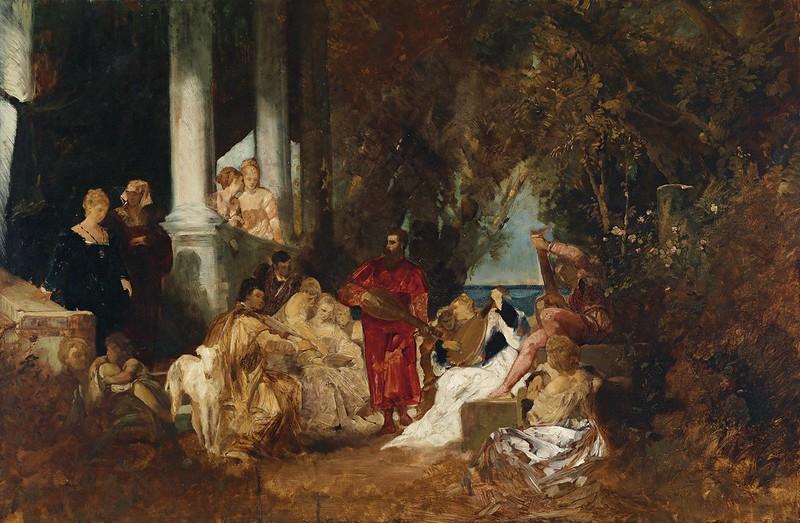 Hans Makart - Musikalische Unterhaltung (1874)