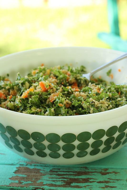 vegan quinoa and kale salad